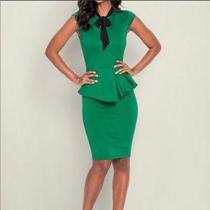 Venus Green Peplum Dress